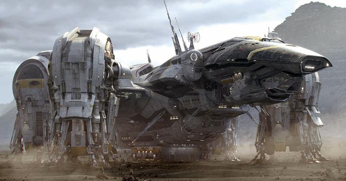 Pojazd Prometheus po wylądowaniu na LV-223