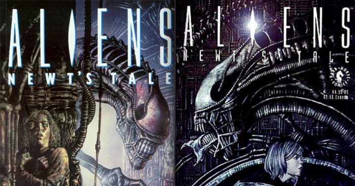 Aliens Newts Tale komiks